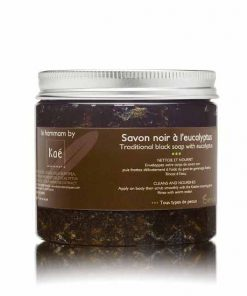 Savon noir a l'eucalyptus 200 gr. (traditional black soap from morocco)